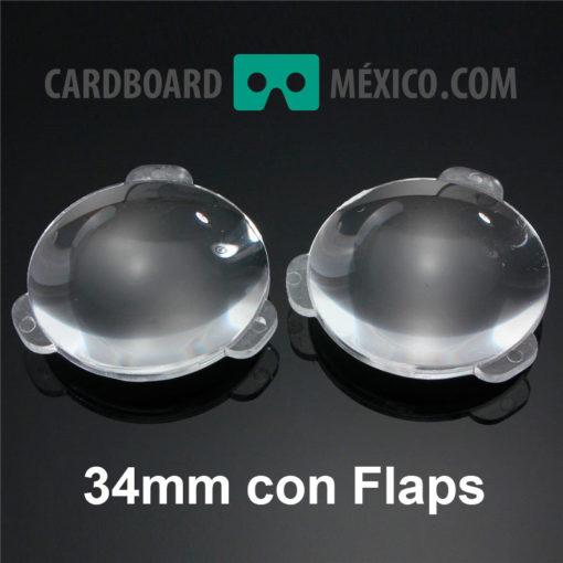 lentes google cardboard 34mm