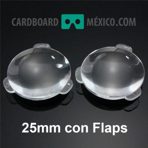 lentes google cardboard 25mm